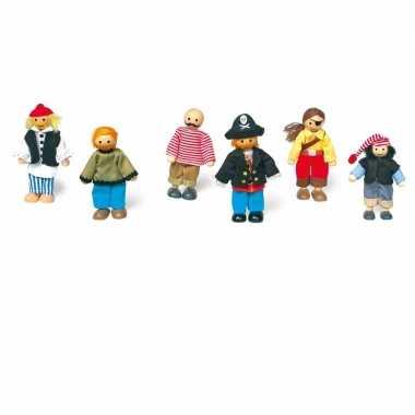 Groothandel piraten poppen set speelgoed