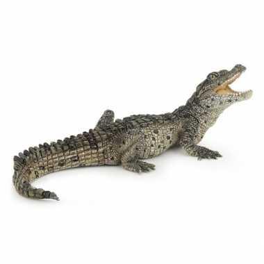 Groothandel plastic baby krokodil speeldiertje 10 cm speelgoed
