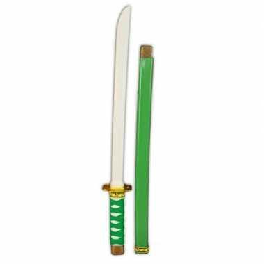 Groothandel plastic groen/goud ninja zwaard 60 cm speelgoed kopen