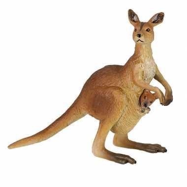 Groothandel plastic kangoeroe met baby speeldiertje 8 cm speelgoed ko