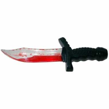 Groothandel plastic mes met bloed 25 cm speelgoed