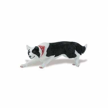 Groothandel plastic speelgoed border collie hond 12 cm kopen