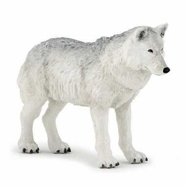 Groothandel plastic speelgoed figuur witte wolf 9,5 cm kopen