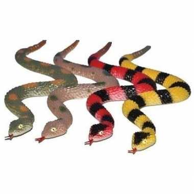 Groothandel plastic speelgoed ratelslangen 4 stuks 29 cm kopen