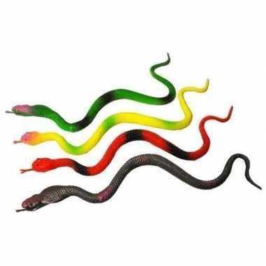Groothandel plastic speelgoed slangen 4 stuks 23 cm kopen