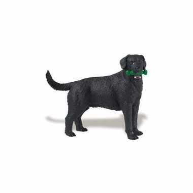 Groothandel plastic speelgoed zwarte labrador hond 9 cm kopen