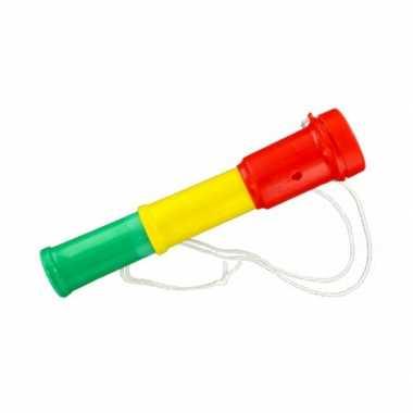 Groothandel plastic toetertje rood-geel-groen 20 cm speelgoed kopen