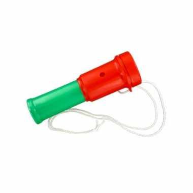 Groothandel plastic toetertje rood groen 15 cm speelgoed kopen