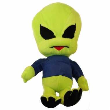Groothandel pluche alien pop knuffel blauw 40 cm speelgoed