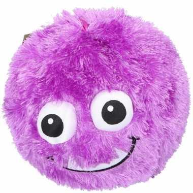 Groothandel pluche bal paars met gezicht 23 cm speelgoed kopen