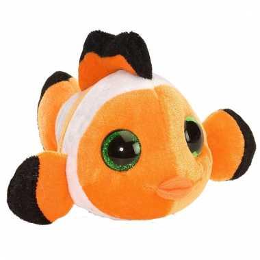 Groothandel pluche knuffel knuffeldier clownsvisje oranje 13 cm speel