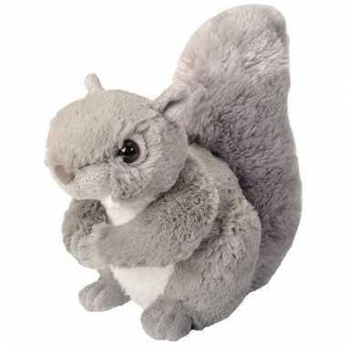 Groothandel pluche knuffel knuffeldier eekhoorn grijs 20 cm speelgoed