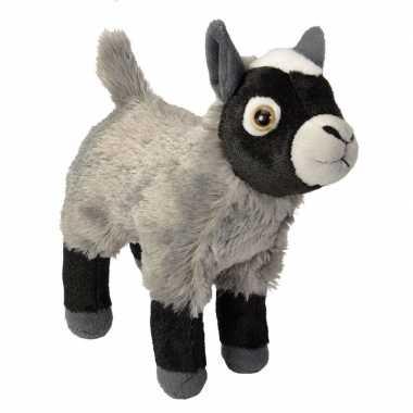 Groothandel pluche knuffel knuffeldier geit grijs 20 cm speelgoed