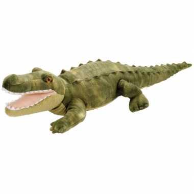 Groothandel pluche knuffel knuffeldier krokodil groen 38 cm speelgoed