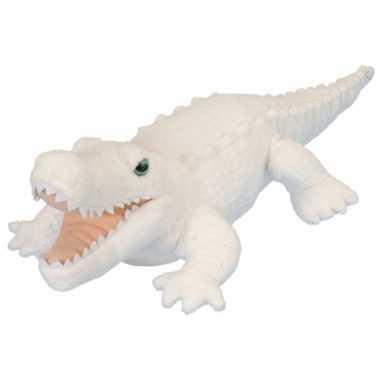 Groothandel pluche knuffel knuffeldier krokodil wit 38 cm speelgoed k