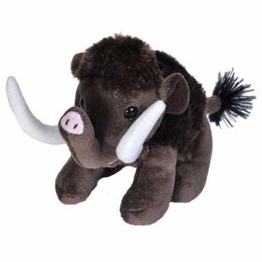 Groothandel pluche knuffel knuffeldier mammoet bruin15 cm speelgoed