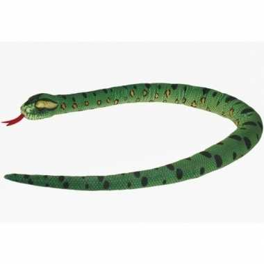 Groothandel pluche knuffel knuffeldier slang groen 150 cm speelgoed k
