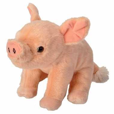 Groothandel pluche knuffel knuffeldier varken roze 20 cm speelgoed