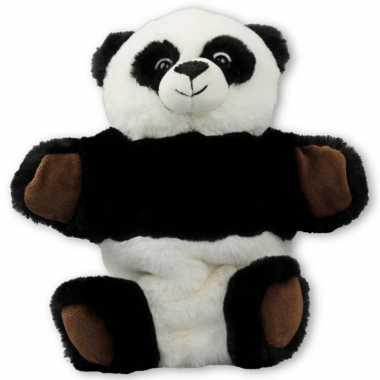 Groothandel pluche panda beer handpop knuffel 25 x 23 cm speelgoed kopen