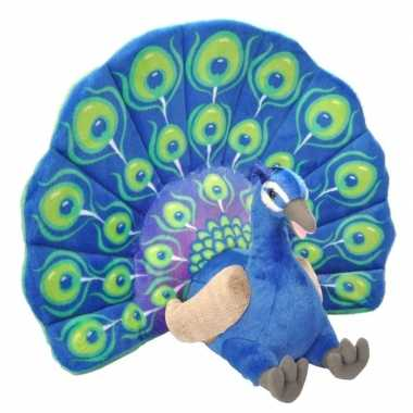 Groothandel pluche pauw grote dierenknuffel 66 cm speelgoed kopen