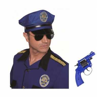Groothandel politie verkleed accessoires petje en speelgoed pistool k