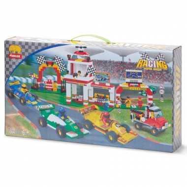 Groothandel race parcours bouwstenen set speelgoed