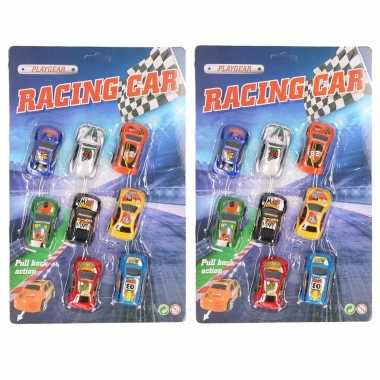 Groothandel race speelgoed auto setje van 8 stuks kopen