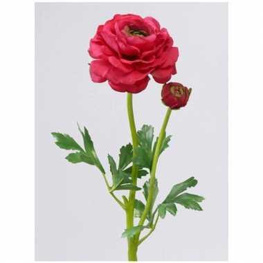 Groothandel ranonkel rood/roze 51 cm met 2 knoppen speelgoed kopen