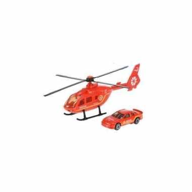 Groothandel reddingsteam speelset rode helikopter en auto speelgoed