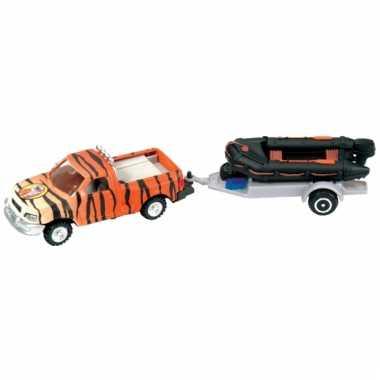 Groothandel regenwoud autos met speedboot speelgoed