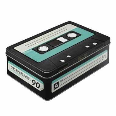 Groothandel retro cassetteband bewaarblik plat 23 cm speelgoed kopen