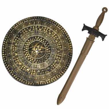 Groothandel ridders verkleed wapens set - schild met zwaard van 65 cm speelgoed kopen