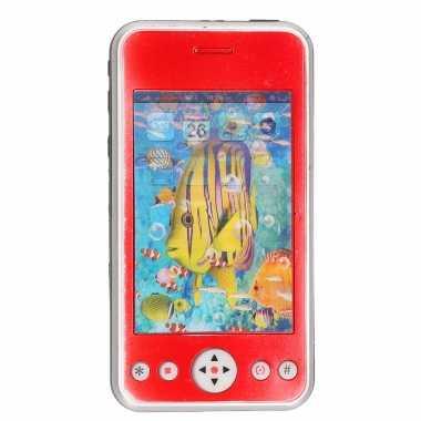 Groothandel rode speelgoed smartphone/mobiele telefoon met licht en geluid 11 cm kopen