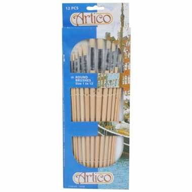 Groothandel ronde verf penselen set 12 stuks speelgoed kopen
