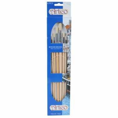 Groothandel ronde verf penselen set 6 stuks speelgoed kopen