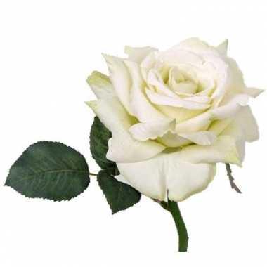 Groothandel roos deluxe wit 31 cm kunstbloem speelgoed kopen