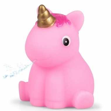 Groothandel roze eenhoorn voor in bad 6,5 cm speelgoed kopen