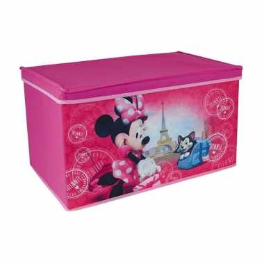 Groothandel roze minnie mouse speelgoed opbergbox 55 cm