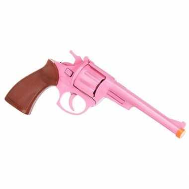 Groothandel roze speelgoed pistool 8 shots kopen