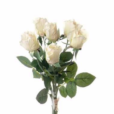 Groothandel rozen boeket wit 38 cm speelgoed kopen