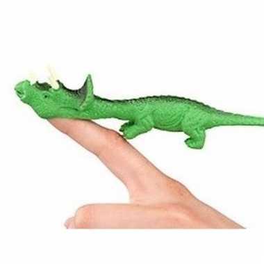 Groothandel rubberen groene speelgoed dino world vingerpoppetje trice