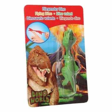 Groothandel rubberen speelgoed groene dino world vingerpoppetje t-rex