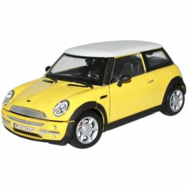 Groothandel schaalmodel mini cooper geel 1:24 speelgoed kopen