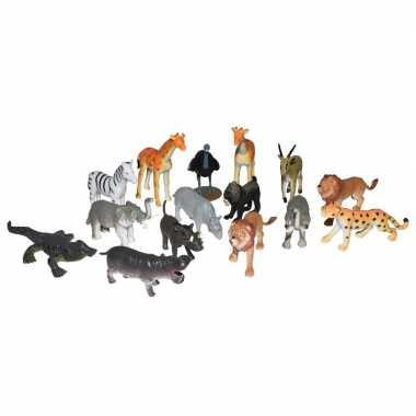 Groothandel set met mini afrikaanse dieren speelgoed figuren 15-delig kopen