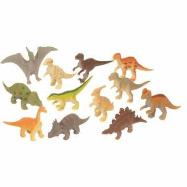 Groothandel set met mini dinosaurus speelgoed figuurtjes 12-delig kopen