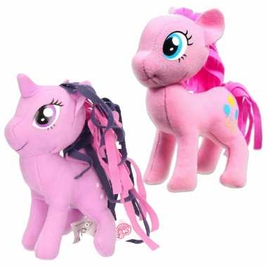 Groothandel set van 2x pluche my little pony speelgoed knuffels pinkie pie en sparkle 13 cm kopen