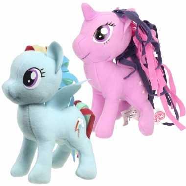 Groothandel set van 2x pluche my little pony speelgoed knuffels rainbow dash en sparkle 13 cm kopen