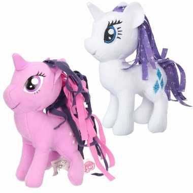 Groothandel set van 2x pluche my little pony speelgoed knuffels rarity en sparkle 13 cm kopen