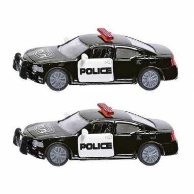 Groothandel set van 2x stuks siku speelgoed politieauto/politiewagen kopen