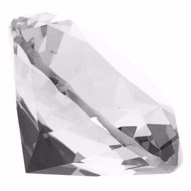 Groothandel set van 3x stuks decoratie nep doorzichtige edelstenen diamanten 6 cm speelgoed kopen